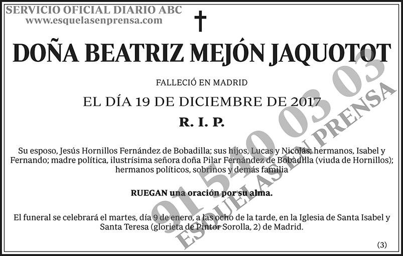 Beatriz Mejón Jaquotot